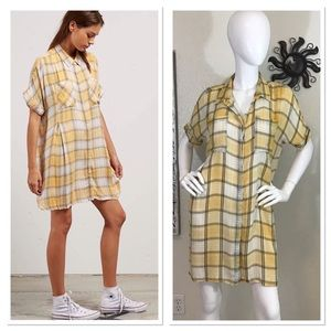 Volcom Sun Punch Flannel Oversized Shirt Dress